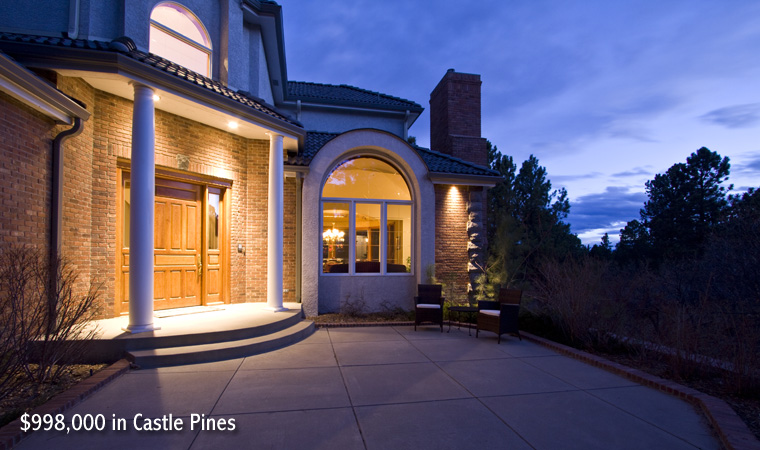 $998,000 in Castle Pines